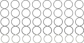 Hastings 2M5049060 8-Cylinder Piston Ring Set