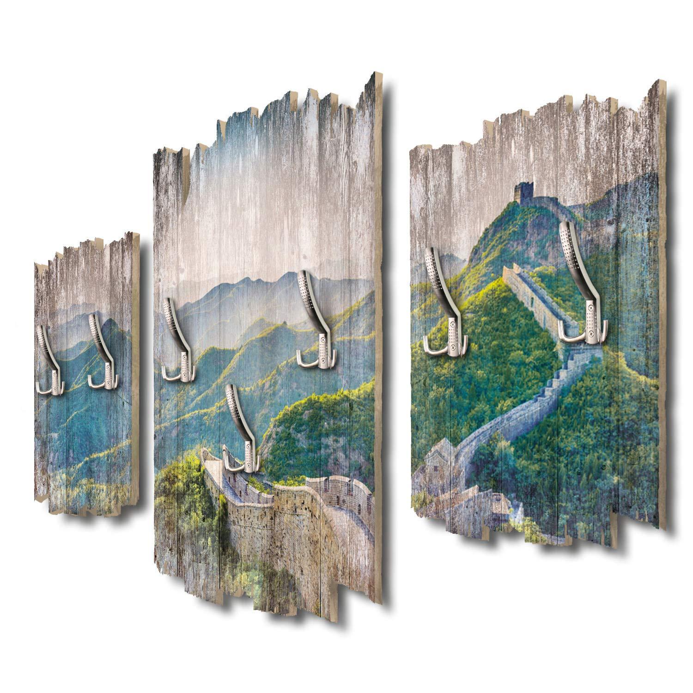 Kreative Feder Chinesische Mauer Designer Wandgarderobe Flurgarderobe Wandpaneele 95 x 60 cm aus MDF-Holz DTGH005