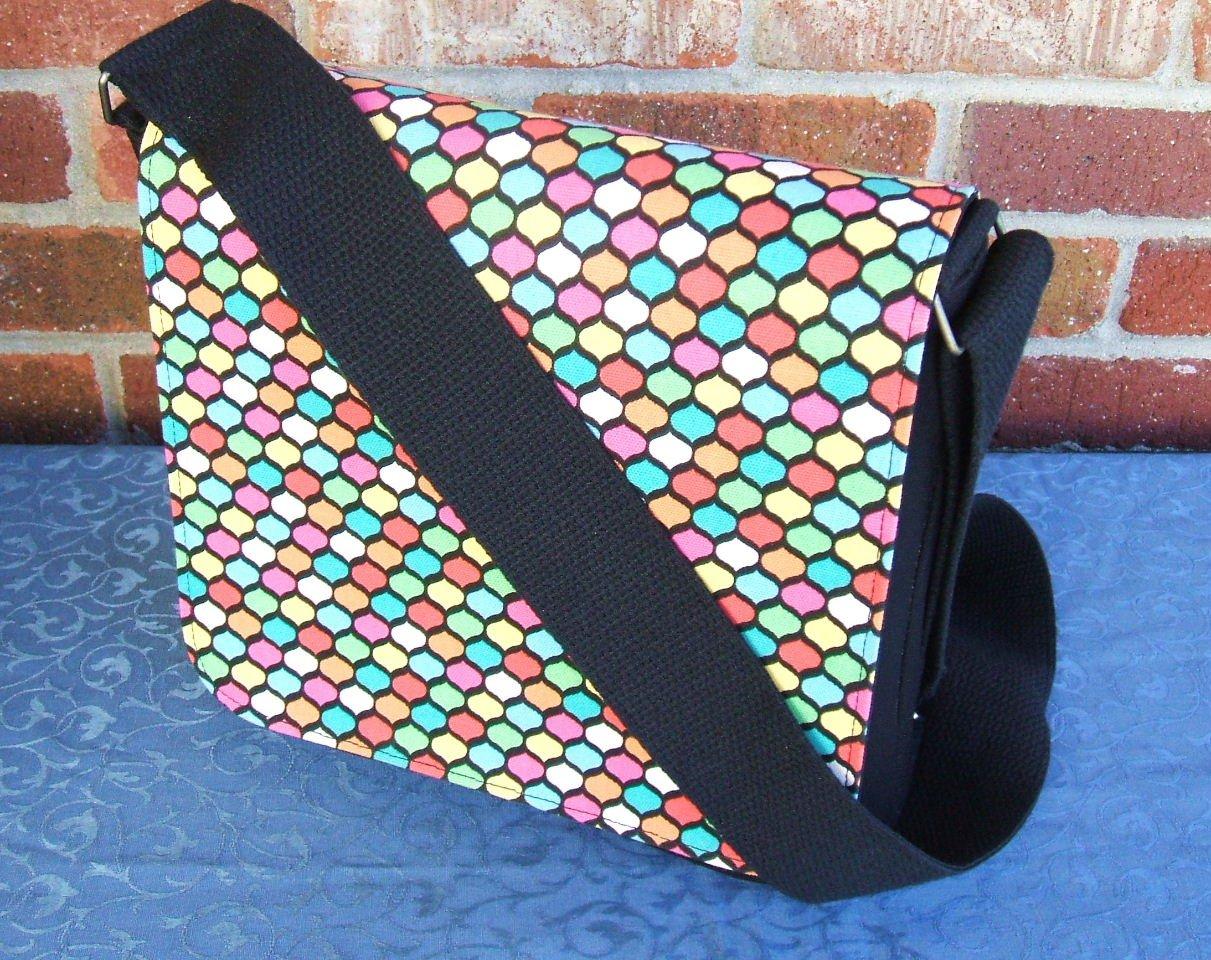 Multi Colors Messenger Bag