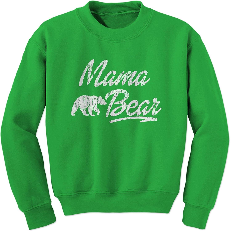 Expression Tees Mama Bear Vintage Distressed Crewneck Sweatshirt 1311-C