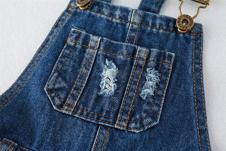 180bfb9782a9 ... Sitmptol Big Girls Kid Denim Jumpsuit Boyfriend Jeans Denim Romper  Shortalls Bib Overalls 18Sep09-11