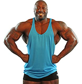 39b07b67c1816 Amazon.com  Physique Bodyware Mens Y Back Stringer Tank Top. Made in ...