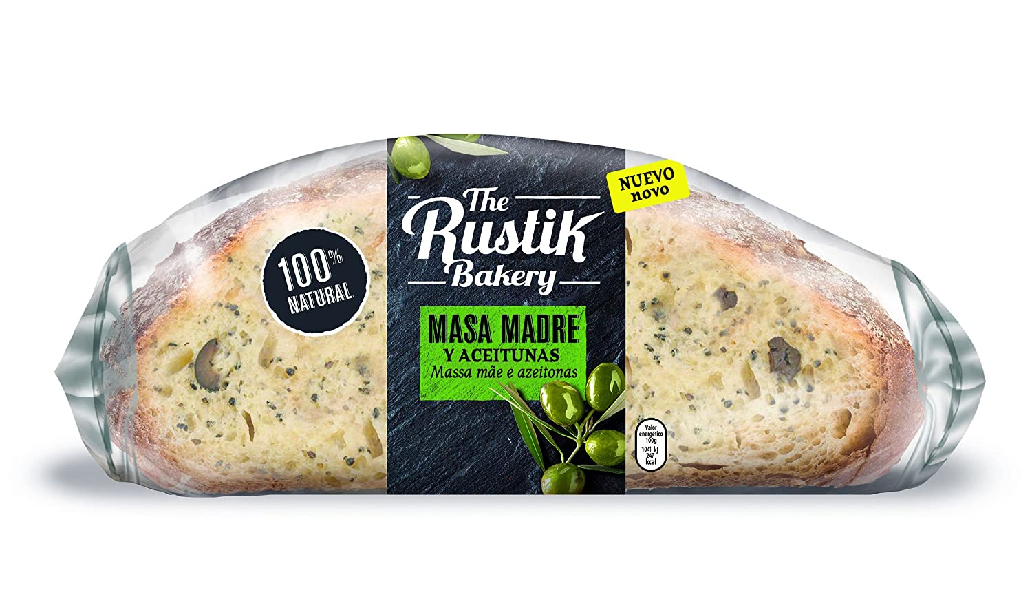 The Rustik Bakery - Pan Masa Madre Y Aceitunas - 450 g ...