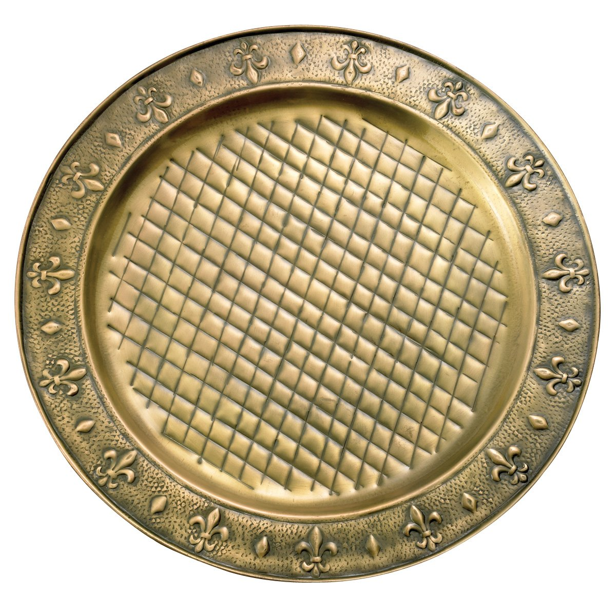 Old Dutch Antique Brass Charger Plate, 13-Inch Diameter 728