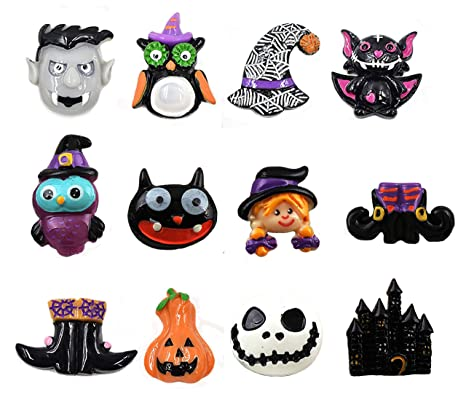 Night Gring 12 Pcs Halloween Decorations Refrigerator Magnets Office Magnets Halloween Fridge Magnet Home Decoration
