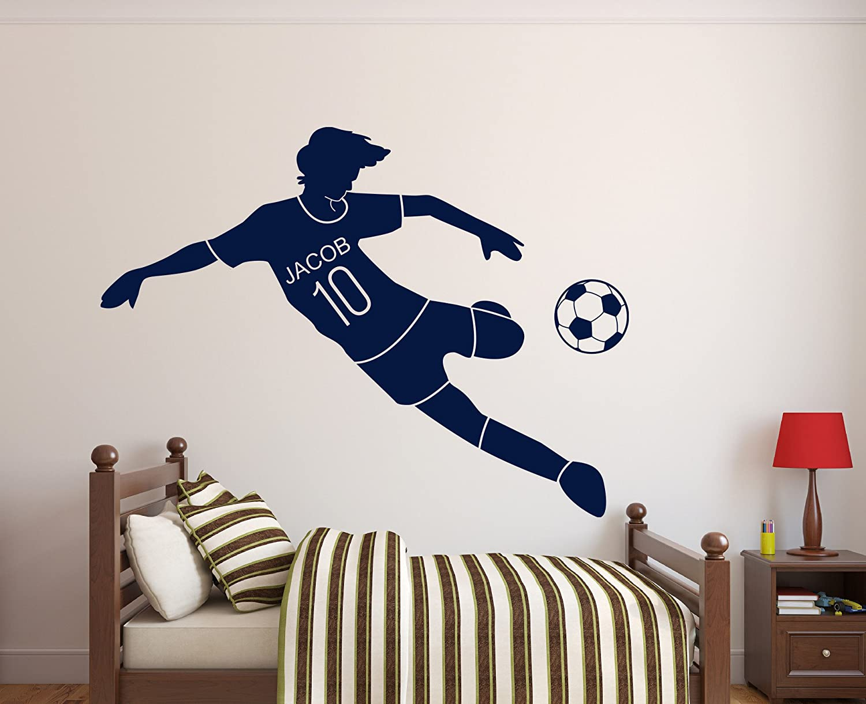 PERSONALISED Football Wall Art PVC Decal Transfer Sticker
