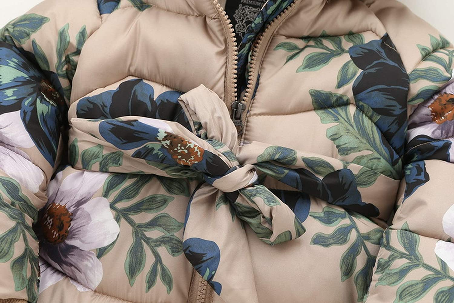 Kids Winter Jackets for Girls Casual Hooded Zipper Outerwear Girls Coat Cotton This is not a harm