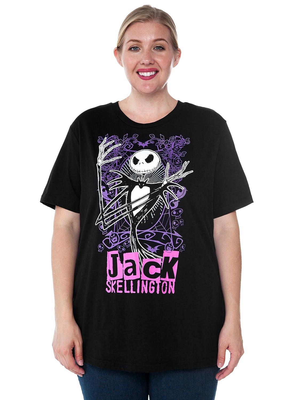 Disney Womens Plus Size T-Shirt Jack Skellington Nightmare Before Christmas