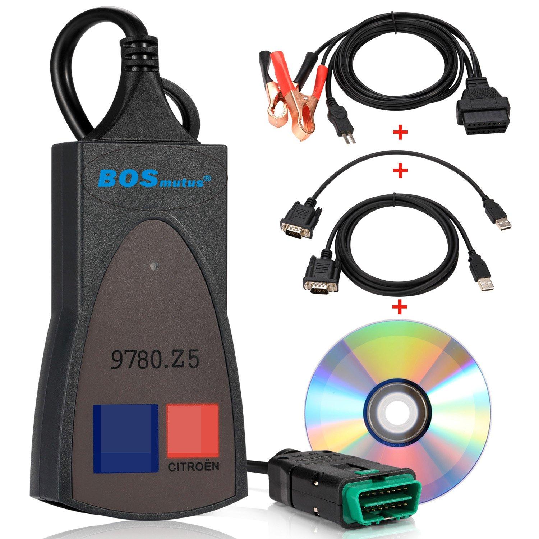 PP2000 OBD2 Scanner, Lexia 3 V48 PP2000 V25 Diagbox 7.83 compatible Citroen Sedan. OBD-II Code Reader, Car Engine Diagnostic Scan Tool (Black) Bosmutus