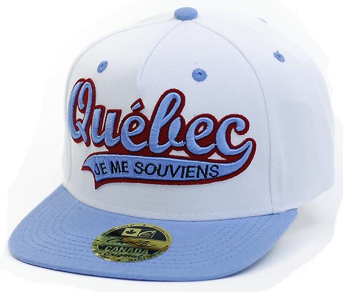Quebec Je Me Souviens Blue and White Flat Brimmed Cap  Amazon.ca ... bd77d552a55