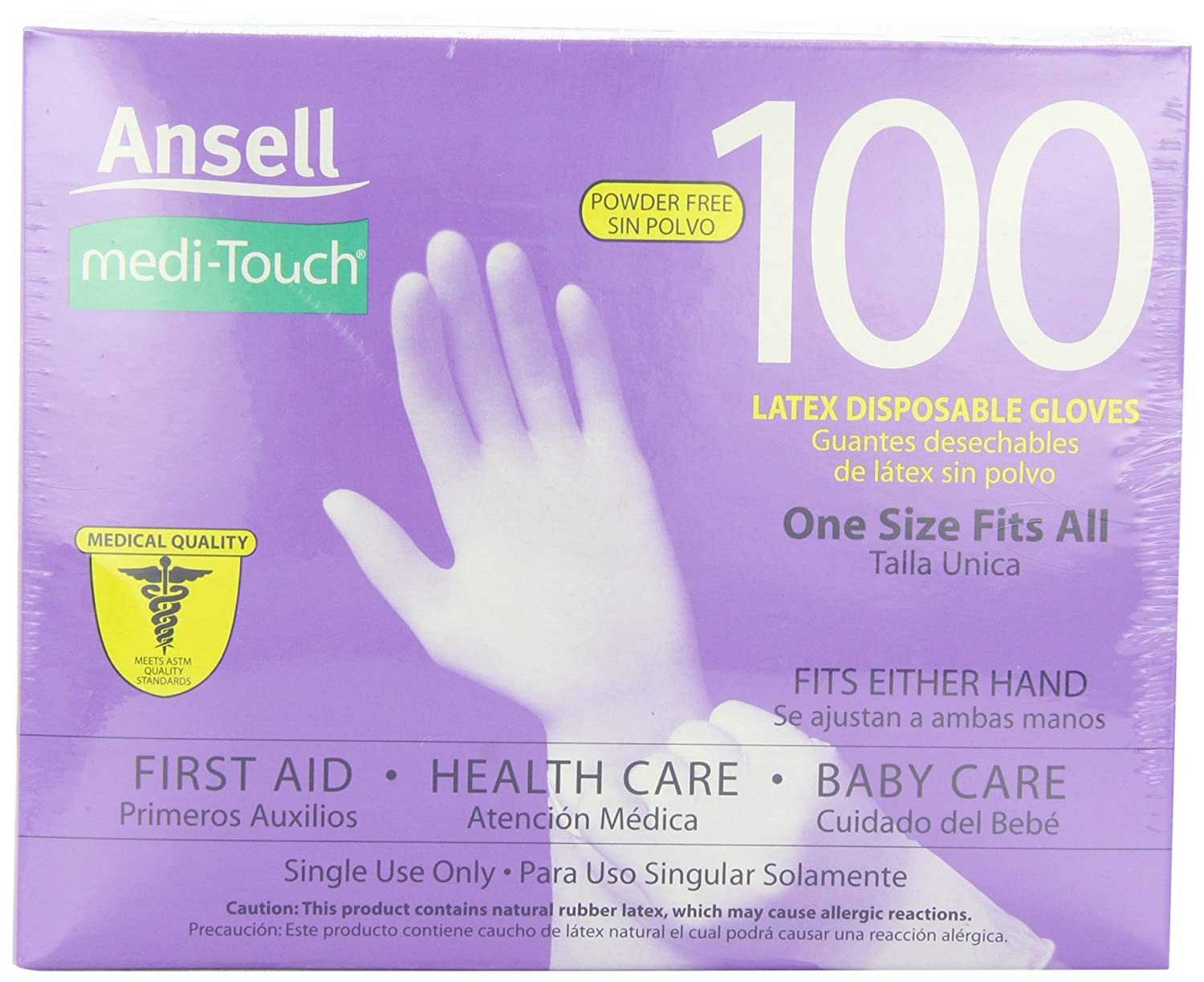 touch 100 disposable gloves latex