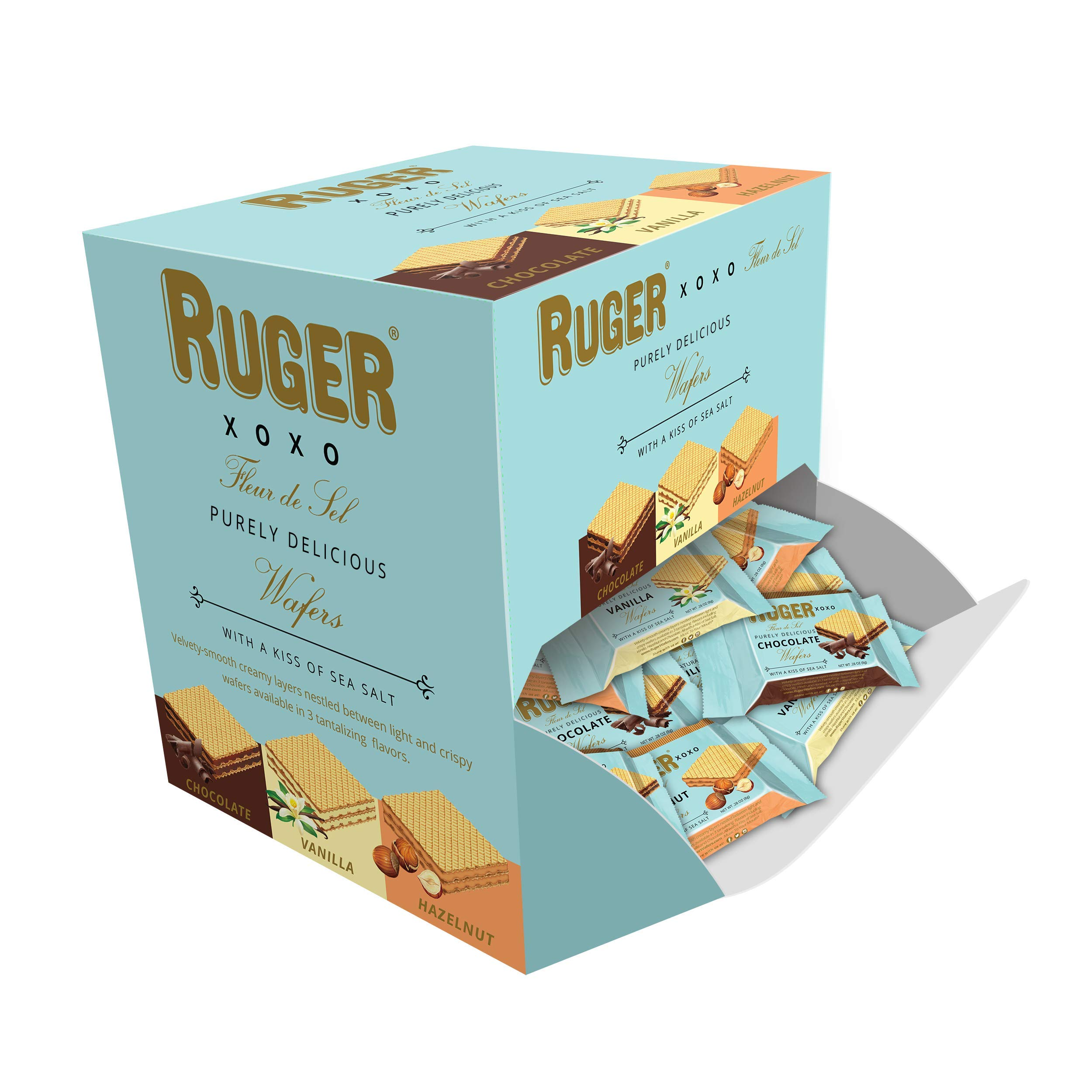 Ruger Wafers Xoxo Mini Wafers Display, 96 Count