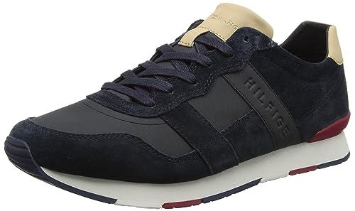 Tommy Hilfiger Herren City Casual Material Mix Runner Sneaker