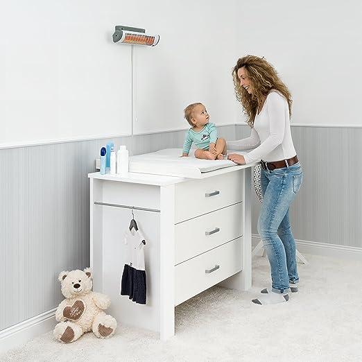 Heizstrahler Baby Wickelkommode Wickeltisch Heizung Wärme elektrisch wandmontage