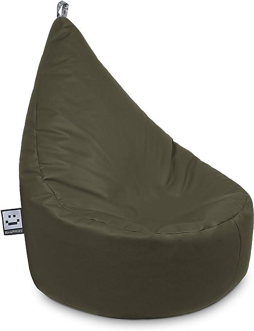 HAPPERS Puff Butaca Polipiel Indoor Taupe XL: Amazon.es: Hogar