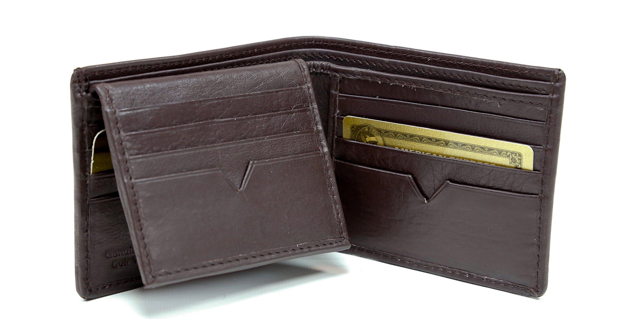 Ashlin Genuine Leather 16 Credit Card Slots Wallet, Dark Brown (756-18-02) by Ashlin®
