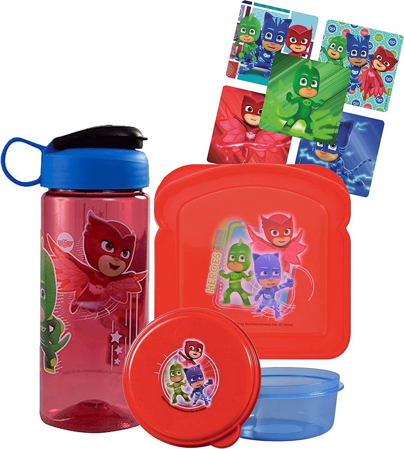 Kids Paw Patrol Reusable Bread Shaped Sandwich Container with Lid Red Blue