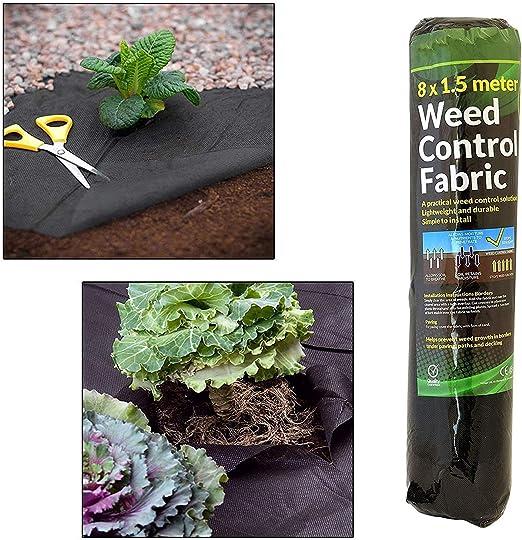 GEEZY Funda de Tela para Control de Malas Hierbas de jardín, para Suelo de Membrana, para terrazas y paisajismo, 1 Roll: Amazon.es: Jardín