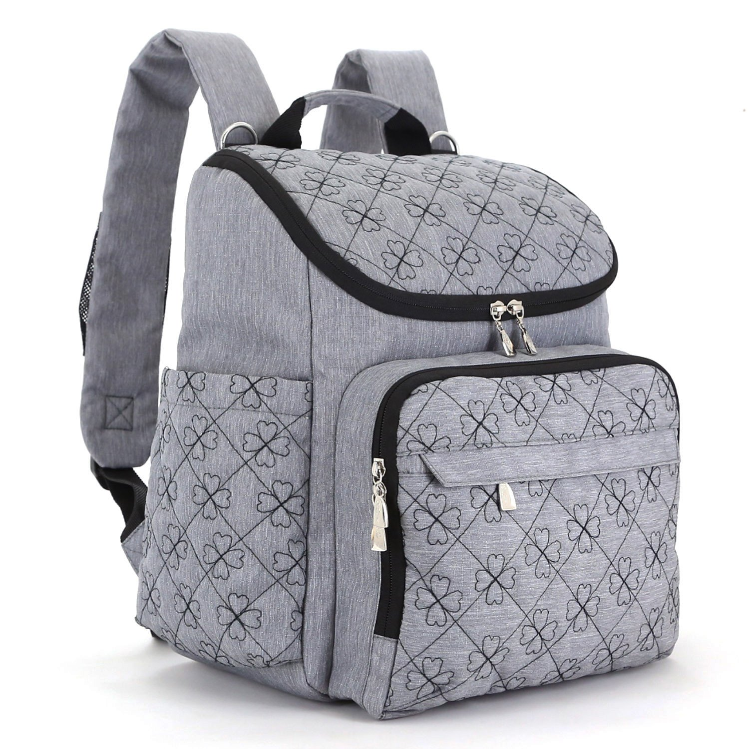640222883 Amazon.com   Big Sale - Multi-Function Baby Diaper Bag Travel Diaper  Backpack with Changing Pad and Stroller Clips(Gray)   Baby