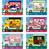 YTWQ 6Pcs NFC Cards for ACNH Sanrio Amiibo Cards Collaboration Compatible Switch