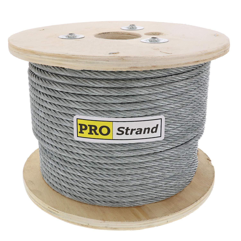 Pro Strand 1/4'' X 250', 7x19, Galvanized Cable Reel