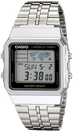 4f6faf334e1 Amazon.com  Casio Men s A500WA-1ACF Classic Silver-Tone Watch  Casio ...