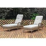 2 piece ariel white resin wicker patio rocker for Ariel chaise lounge