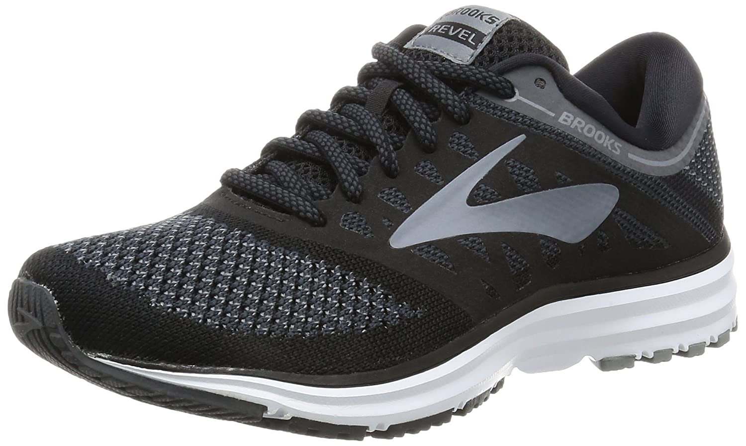 Brooks Womens Revel B01N3Q20GN 6.5 B(M) US|Black/Anthracite/Primer Grey