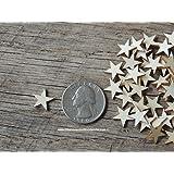 50 Tiny 1/2 inch size wood stars
