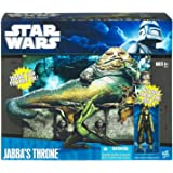Star Wars 2010 Clone Wars Exclusive Deluxe Figure Battle Pack Jabbas Throne with Oola