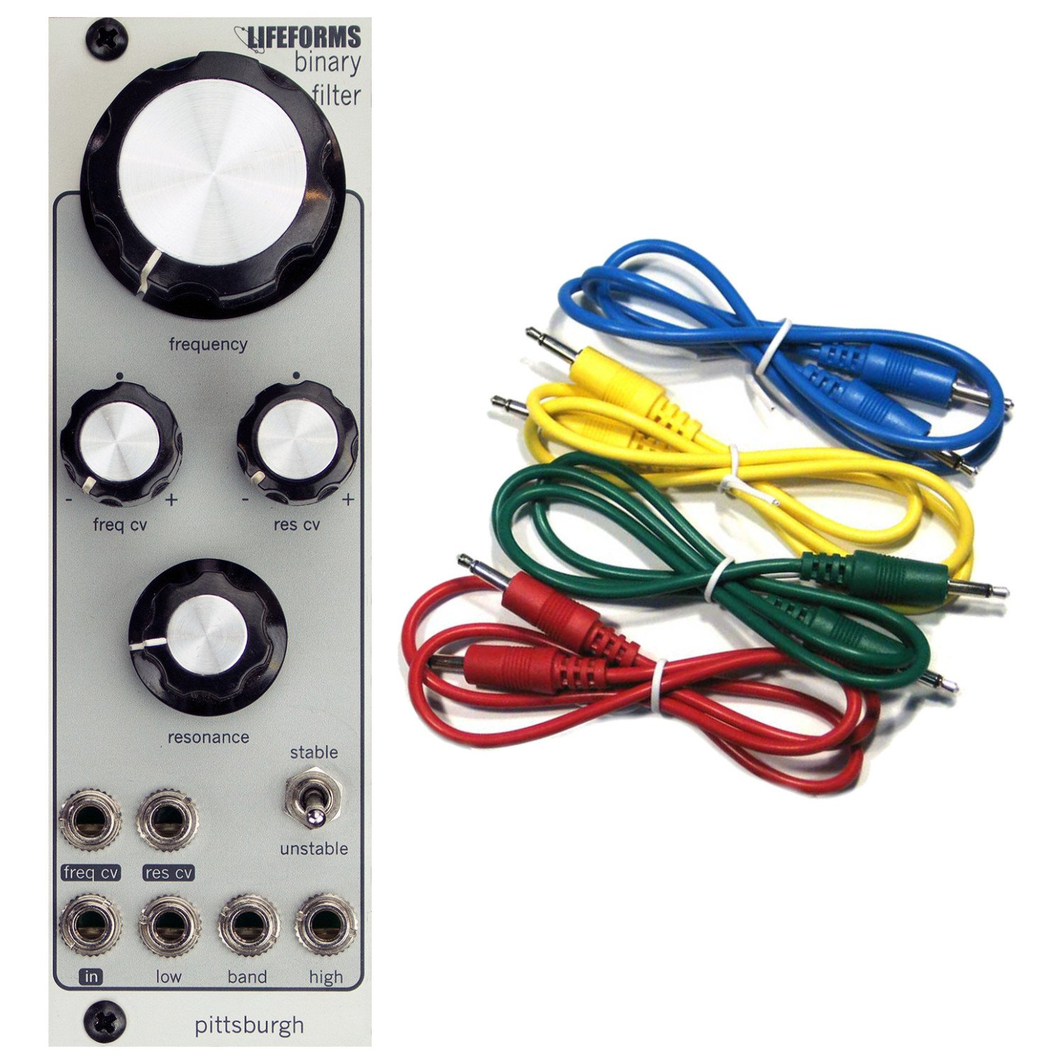 Pittsburgh Modular Lifeforms Binary Filter Eurorack Synth Module w/ 4 Cables