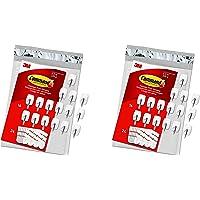 "Small Wire Hooks, 16-Hooks, 24-Strips, Organize Damage-Free "".2 Pack (16 Hooks)"