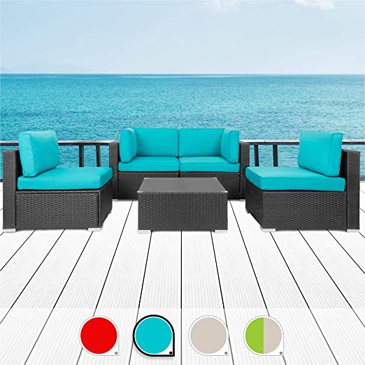 Walsunny 5pcs Patio Outdoor - The Most Comfortable