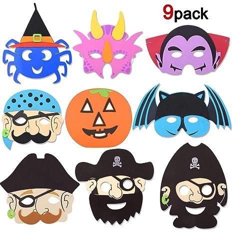 Howaf Halloween Maschere di Schiuma per Bambini ab2d97a1a9d2