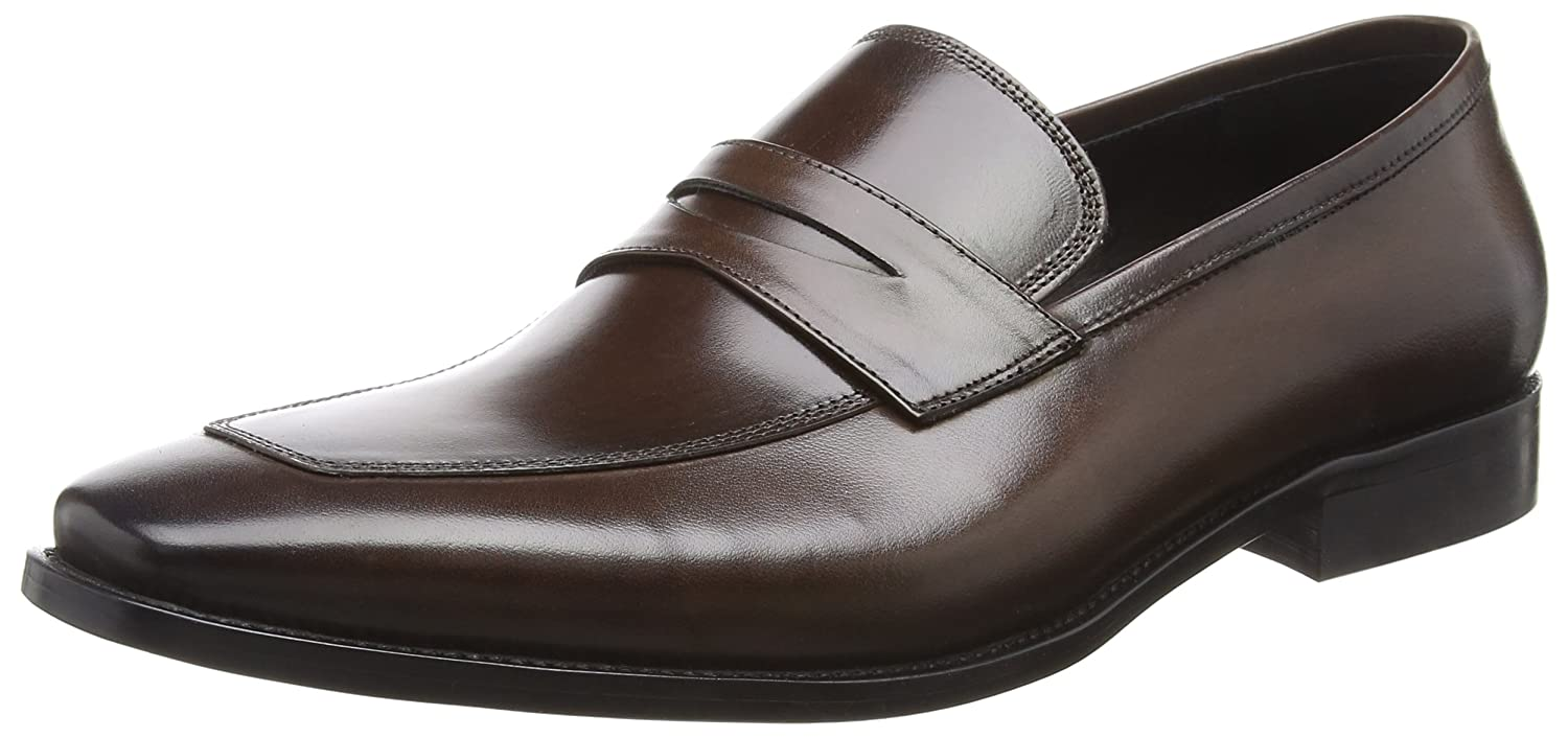 Dune Philipe, Mocasines para Hombre Marrón (Brown-leather Brown-leather)