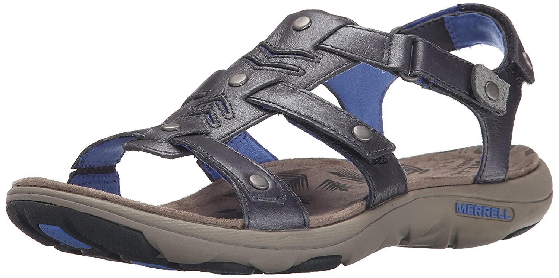 Merrell Women's Adhera Strap Backstrap Sandal B00YDN2GRU 6 B(M) US|Cement