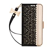 Galaxy S9 Case,Galaxy S9 Wallet Case, WWW [Luxurious Romantic Carved Flower] Leather Wallet Case with [Inside Makeup Mirror]