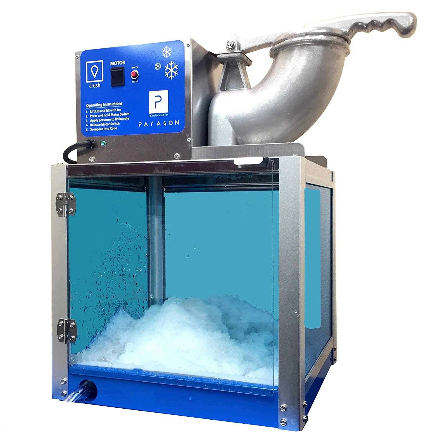 Paragon Arctic Blast Sno Cone Machine for Professional Concessionaires Requiring Commercial Heavy Duty Snow Cone Equipment 1/3 Horse Power 792 Watts Paragon - Manufactured Fun 6133310