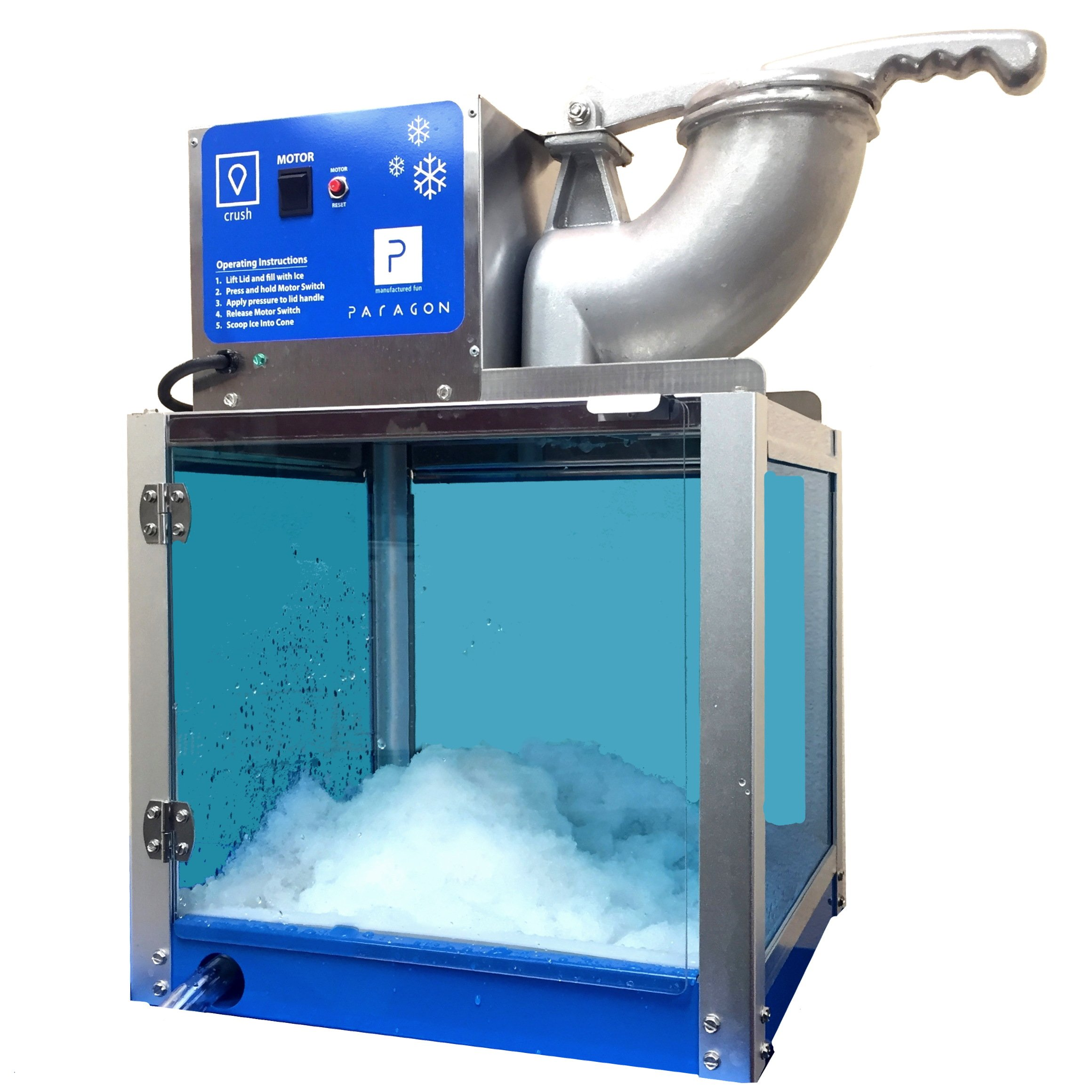 Paragon Arctic Blast SNO Cone Machine for Professional Concessionaires Requiring Commercial Heavy Duty Snow Cone Equipment 1/3 Horse Power 792 Watts by Paragon - Manufactured Fun