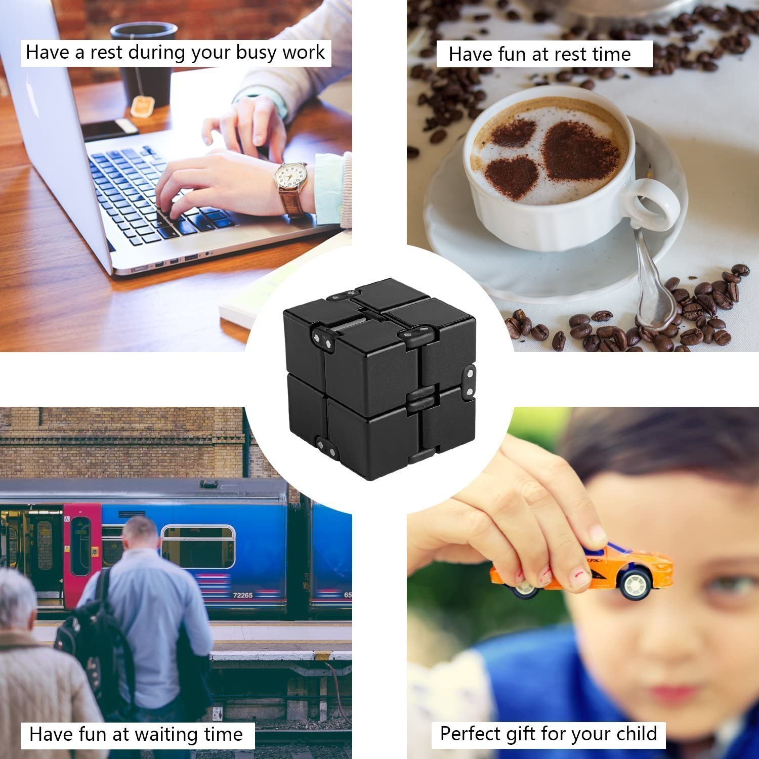 ADHD and Autism Adult and Children Anxiety open up to love Infinity Cube Fidget Toy Hand Killing Time Prime Infinite Cube for ADD