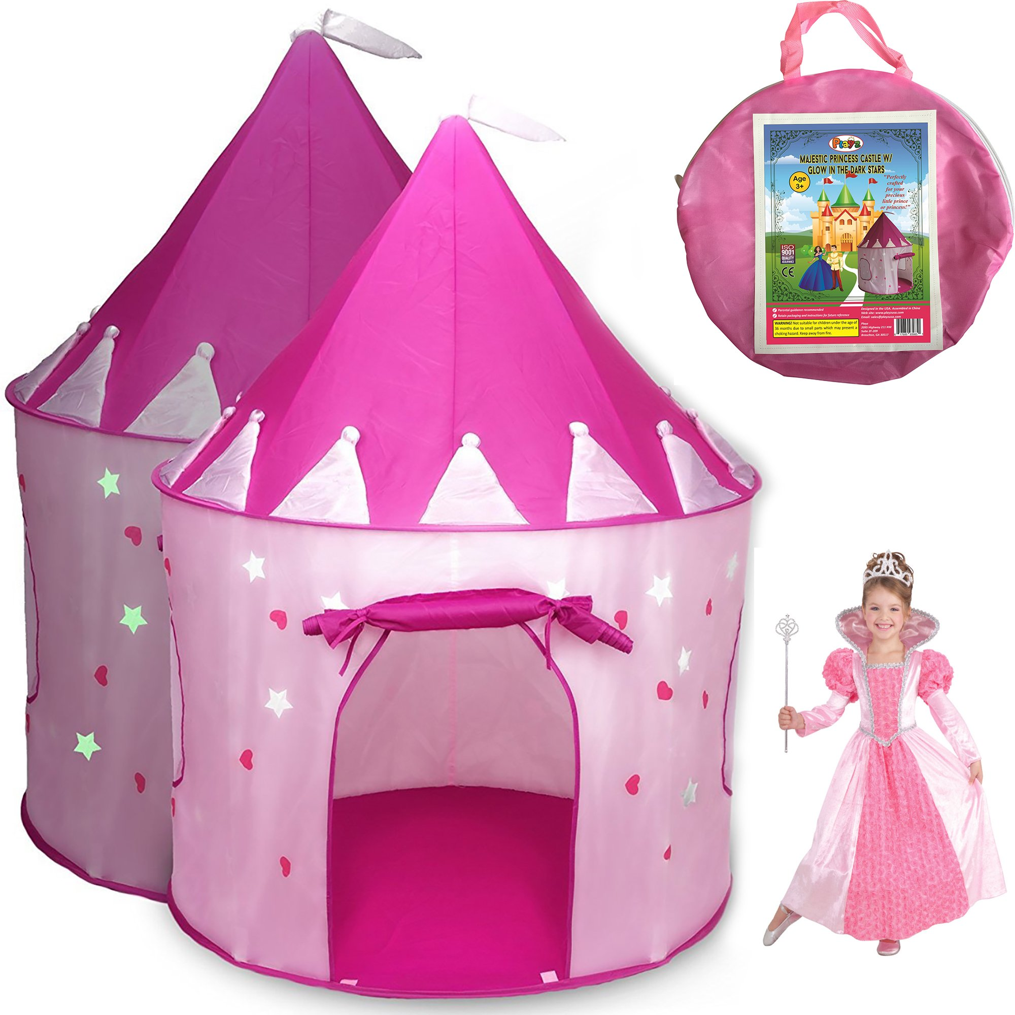 5 Pc Playhouse Fairy Princess Castle Girls Play Tent Glow Butterfly Dress Pink  sc 1 st  eBay & 5 Pc Playhouse Fairy Princess Castle Girls Play Tent Glow ...
