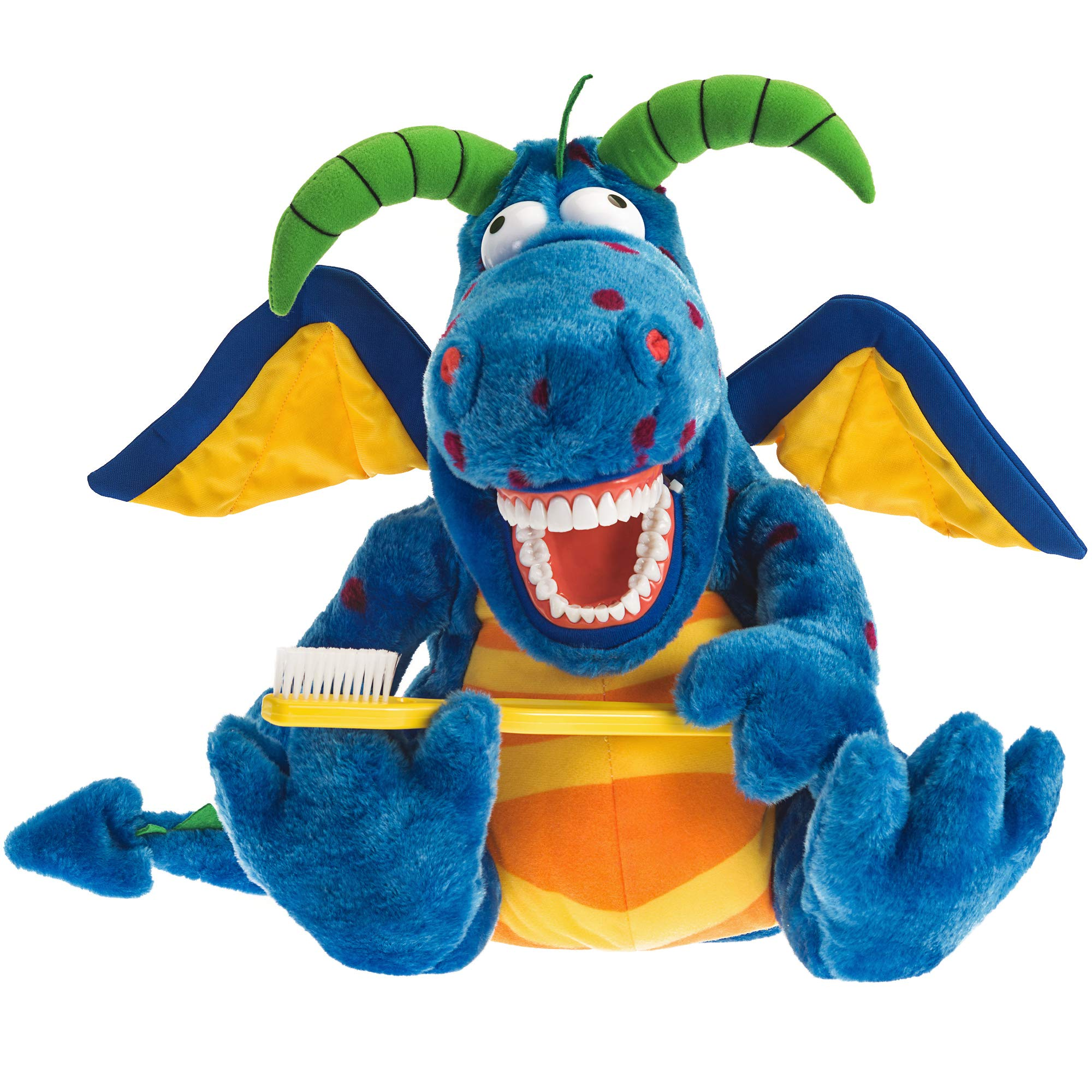 StarSmilez Kids Tooth Brushing Buddy Magi Dragon - Plush Dental Education Helper Fully flossible - Present/Teach Children to Care for Mouth and Teeth