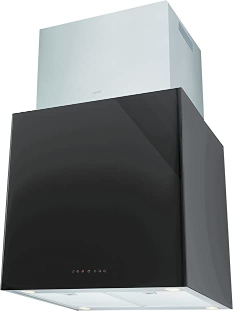 Cata Melina Silent Split Negro 660m³/h-Campana (660 m³/h, 35, 42 dB, Isla, 50 W), Acero Inoxidable, 3 Velocidades: Amazon.es: Hogar