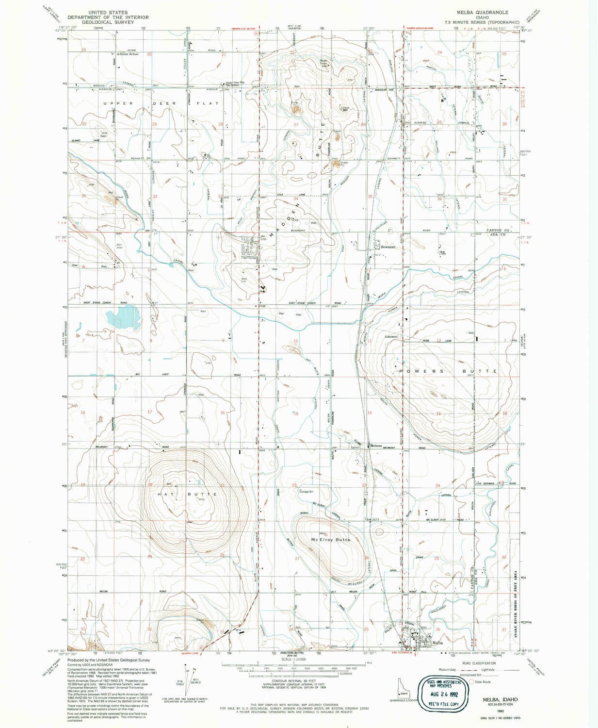 Melba Idaho Map.Amazon Com Yellowmaps Melba Id Topo Map 1 24000 Scale 7 5 X 7 5