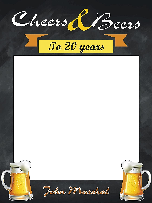 Custom Cheers Beers Birthday Photo Booth Frame Size 36x24 48x36