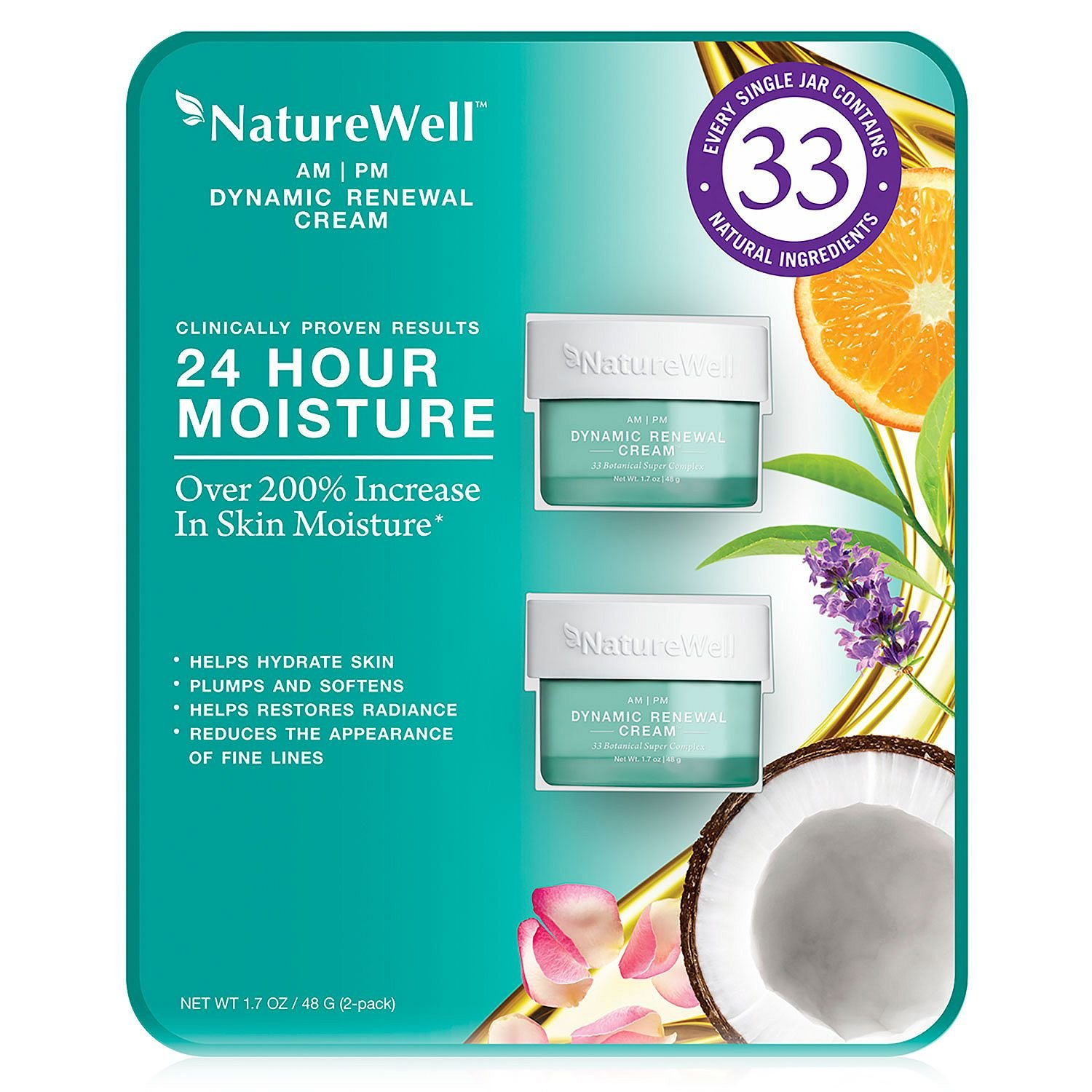 Nature Well Dynamic Renewal Cream (1.7 oz, 2 pk.) (pack of 6)