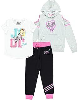 Girls 4-16 Top and Legging JoJo Siwa Unicorn Graphic Hoodie 3-Piece Athleisure Outfit Set