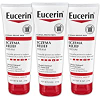 Eucerin Eczema Relief Cream - Full Body Lotion for Eczema-Prone Skin - 8 oz Tube, Pack of 3