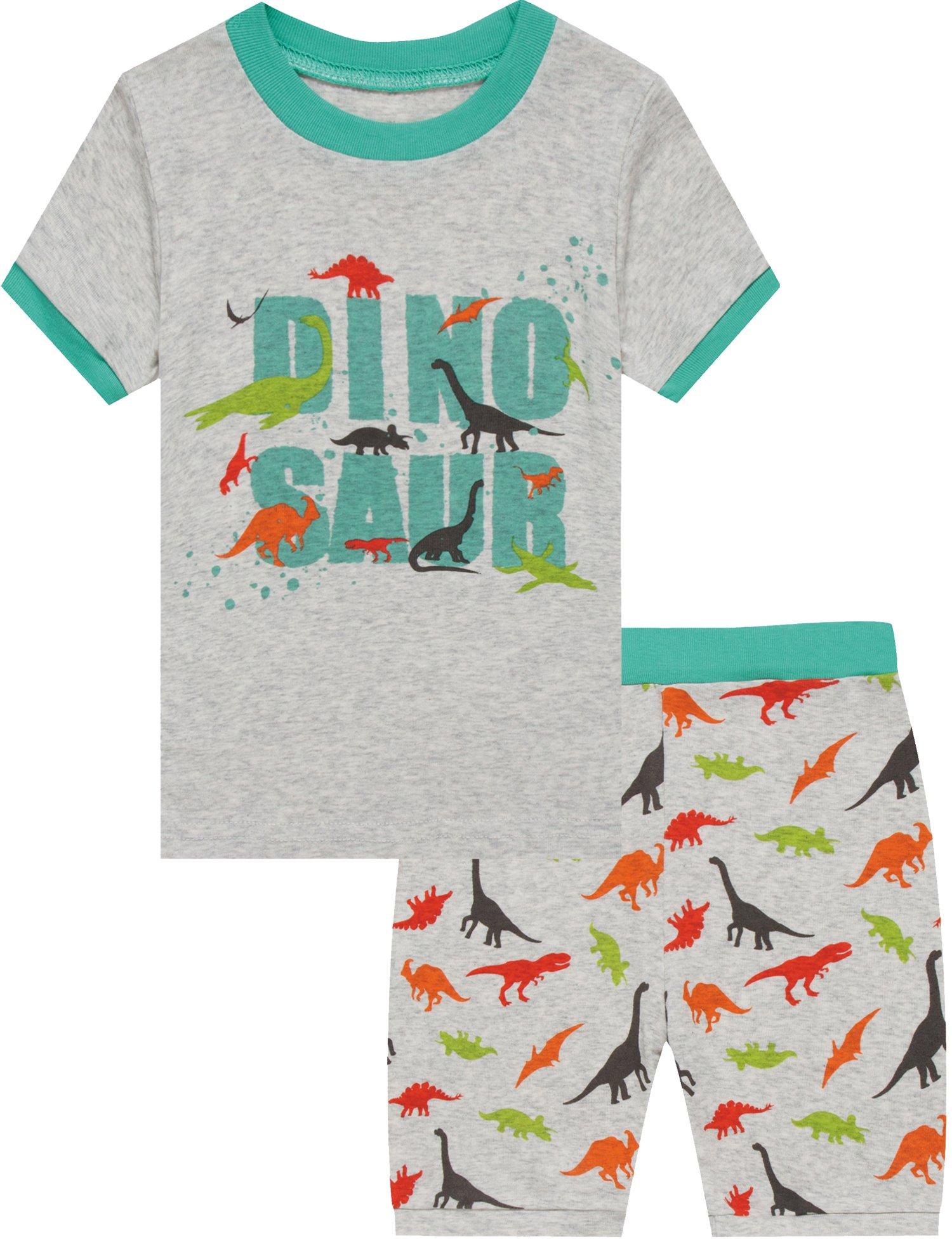 Boys Dinosaur Pajamas Shorts T Shirt & Pants Sets for Kids Cool Summer Children Sleepwear PJ Size 2T