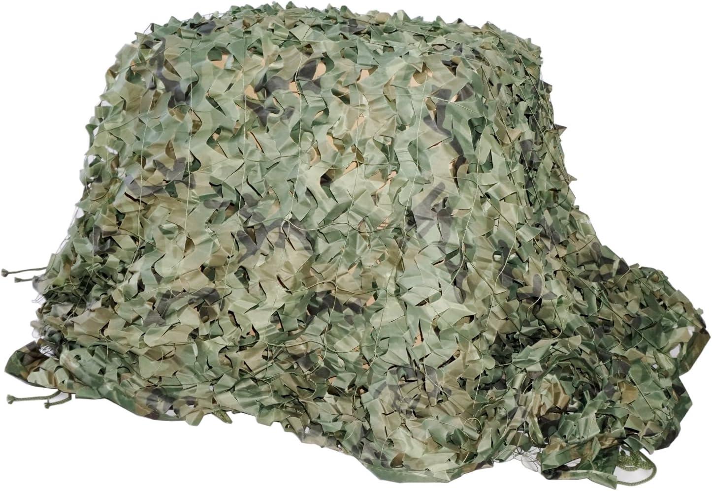 Filet de Camouflage Jungle Camouflage en Maille Filet Stores Pare-Soleil de Prise de Vue pour la Chasse Camping D/écoration de la Maison et Sports de Plein air